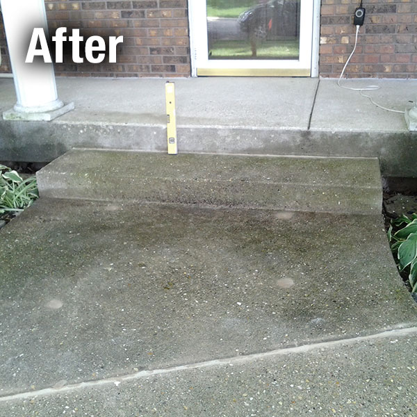 Johnson City Concrete Step Repair - After
