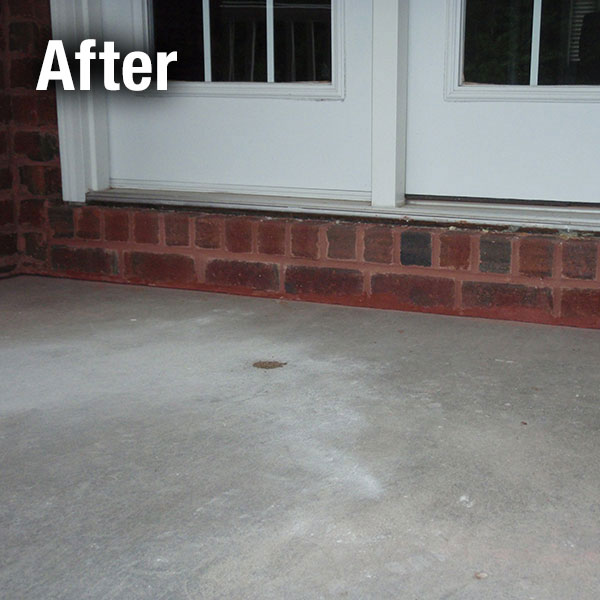 Johnson City Concrete Porch Leveling - After