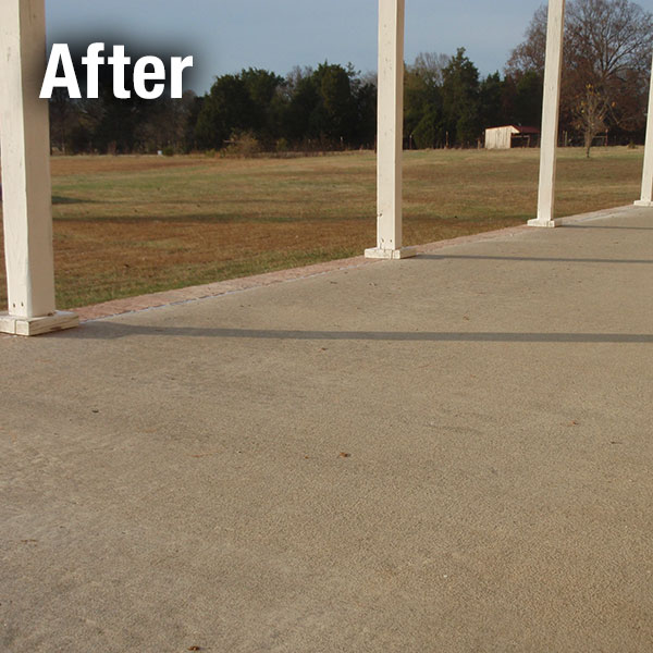 Johnson City​ Concrete Patio Leveling - After