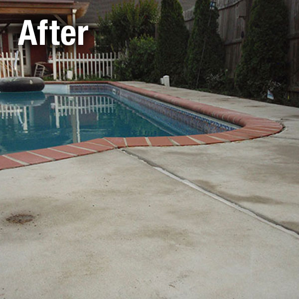 Johnson City, Concrete Pool Deck Leveling - After