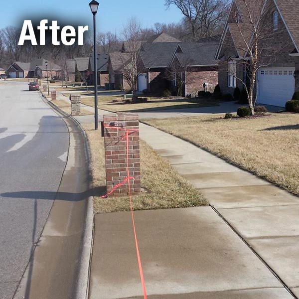 Johnson City Brick Mailbox Leveling - After